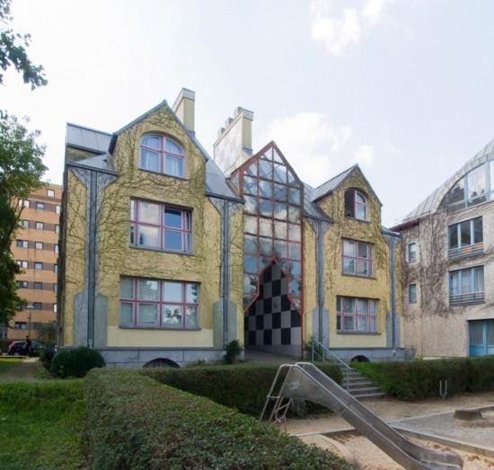 3: Wohnbebauung am Tegeler Hafen (1), Stadtvilla • Am Tegeler Hafen • Stanley Tigerman • Zustand Juli 2012 • Foto: Gunnar Klack