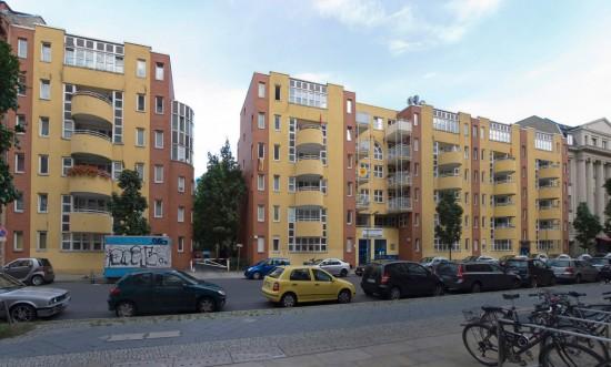 47:Wohngebäude • Köthener Straße 39–43 • Hans Christian Müller • Block 1 • Zustand Juli 2012 • Foto: Gunnar Klack