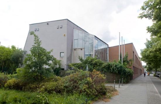 57: Grundschule am Anhalter Park • Schöneberger Straße 23–32 • Wolfgang Scharlach/Rainer Wischhusen • Block 14 • Zustand Juli 2012 • Foto: Gunnar Klack