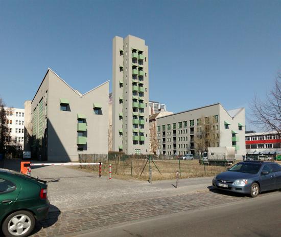 90: Wohnbebauung mit Atelierturm • Charlottenstraße 96–98 • John Hejduk mit Kontaktarchitekt Moritz Müller • Block 11 • Zustand März 2015 • Foto: Gunnar Klack