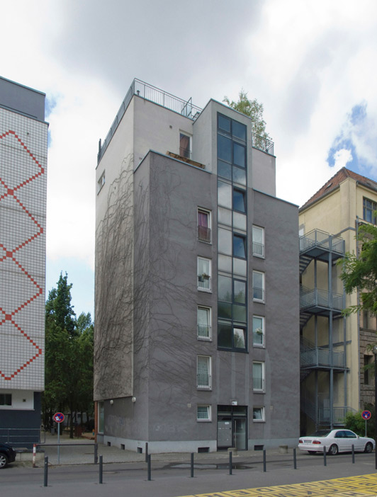 99: Wohnpark am Berlin Museum, Wohnturm • Alte Jakobstraße 129d • Hans Kollhoff/Arthur Ovaska • Block 33 • Zustand Juli 2012 • Foto: Gunnar Klack