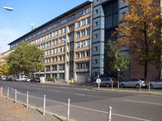 Bürogebäude Einemstraße 22-24, Straßenansicht, Zustand Oktober 2012; Foto: Dirk Kaden