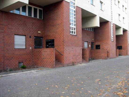 Häuser Lützowplatz 8–14, Straßenansicht Sockelgeschosse, Zustand Oktober 2012; Foto: Dirk Kaden