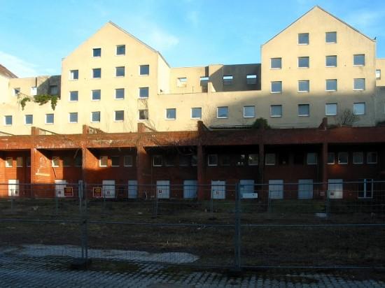 Häuser Lützowplatz 8–14, Hofansicht, Zustand März 2012; Foto: Dirk Kaden