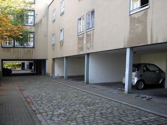 Stadthäuser Lützowstraße, Hofansicht, Zustand Oktober 2012; Foto: Dirk Kaden