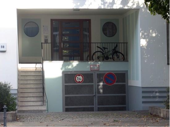 Stadtvilla Kurfürstenstraße 59, Hauseingang, Zustand Oktober 2012; Foto: Dirk Kaden