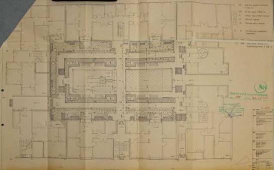 Grundriss Dessauer Straße 36–40 (Lose 2 und 3); Quelle: Bauaktenarchiv Kreuzberg