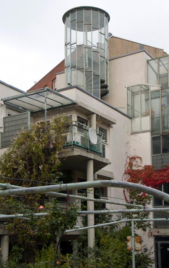 Wohnhof LiMa, Baudetail Innenhof, Zustand Oktober 2010; Foto: Gunnar Klack