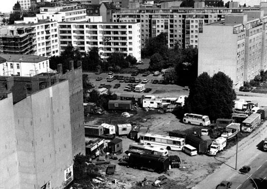 Perspektive auf das Gelände Juni 1989; Quelle: Landesarchiv, 308952