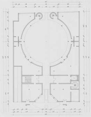 Grundriss EG der Planunterlagen für den Bauherrenwettbewerb, 1983; Quelle: Landesarchiv Berlin