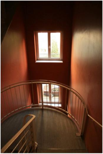 Binnentreppenhaus Köpenicker Straße 191 (Neubau), Zustand 2011; Fotos: Corinna Tell