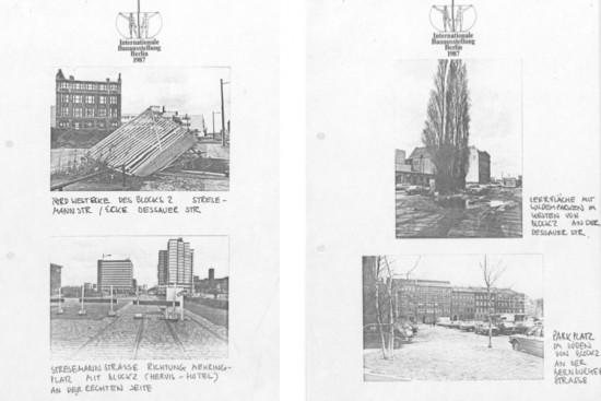Bauplatz vor der Neugestaltung im Rahmen der IBA 87; Quelle: LAB B Rep. 168, IBA Intern. Bauausstellung, Nr. 1437, Aufnahmen vor 1986