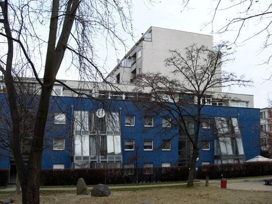 Südfassade der Zeile, Zustand Dezember 2011; Foto: Tina Kühn