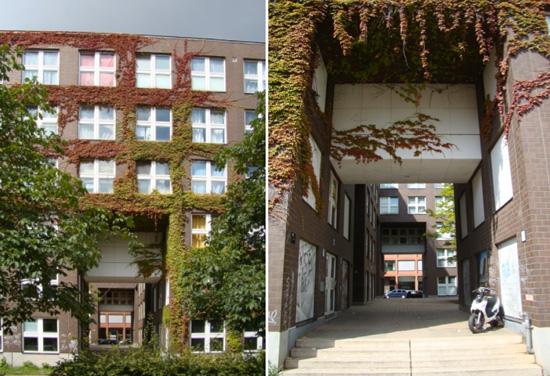 Wohngebäude Block 1, Toröffnungen und Innenhofbereich, Zustand August 2011; Fotos: Swantje Eggert